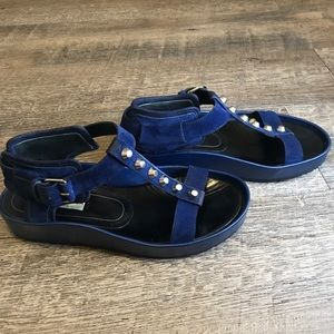 Balenciaga navy gladiator sandals - size 37